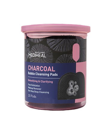 MEDIHEAL Charcoal Bubble Cleansing Pads